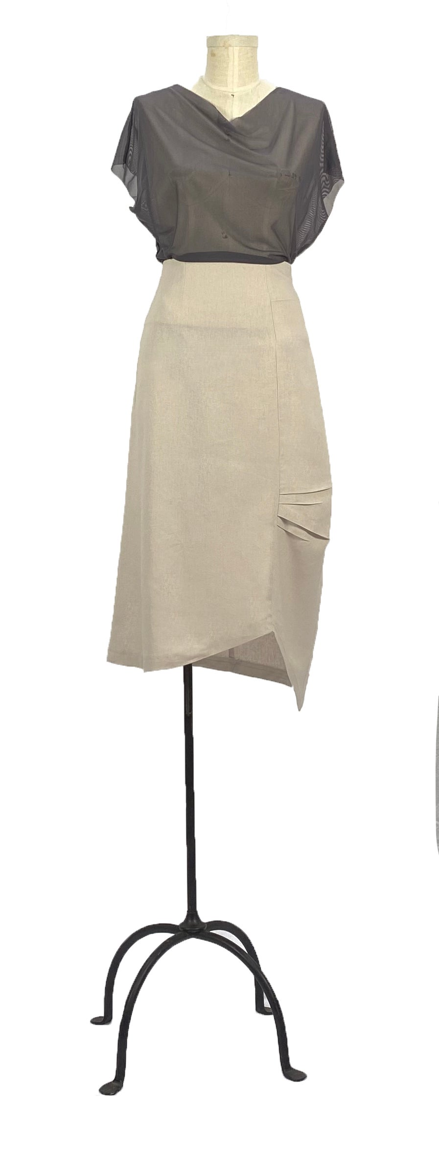 Image of bauhaus skirt natural
