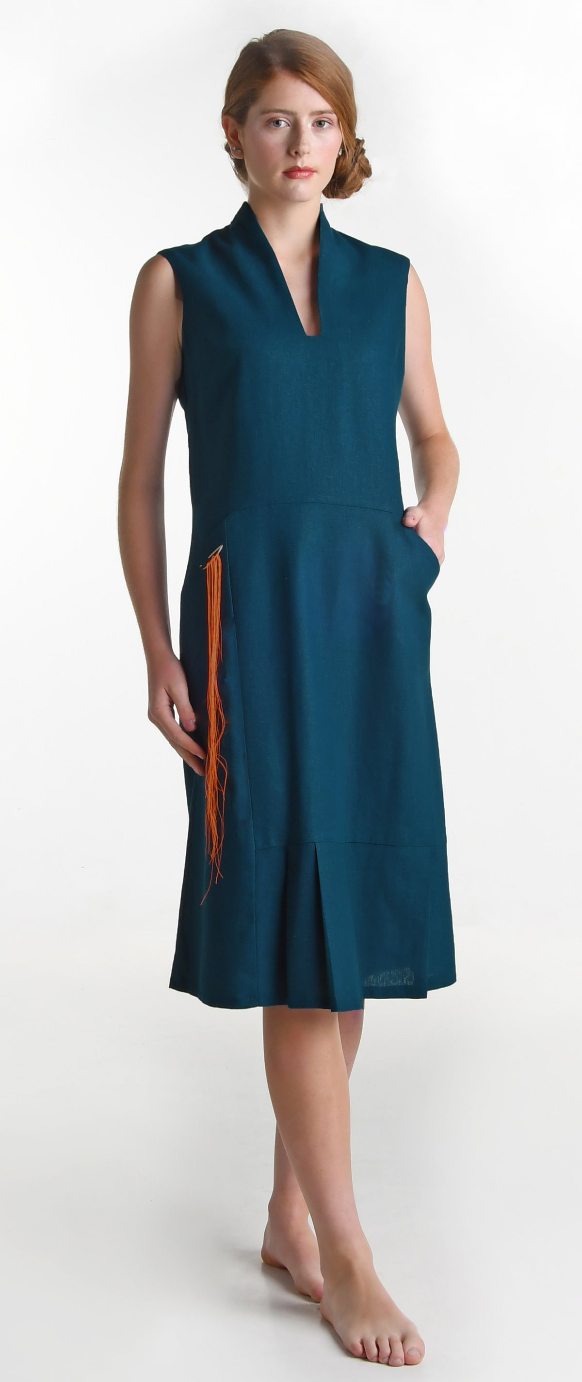 Image of harding dress teal