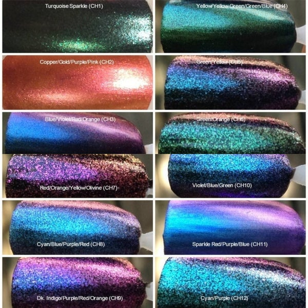 Image of Chameleon Color-Shift Pigments <p> 39 Colors Available