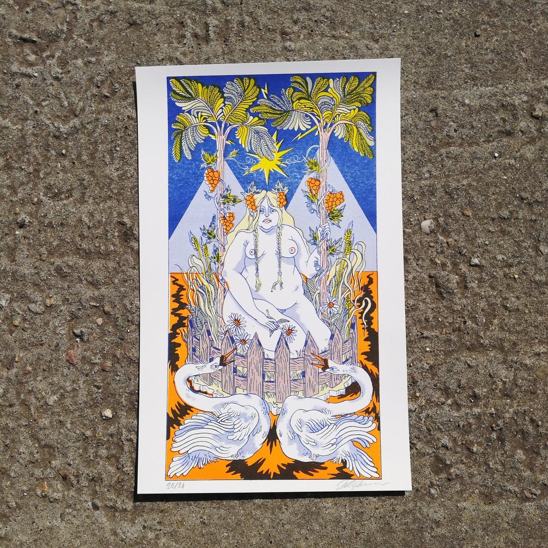 Image of Leda and Swans (The Unicorn In Captivity)