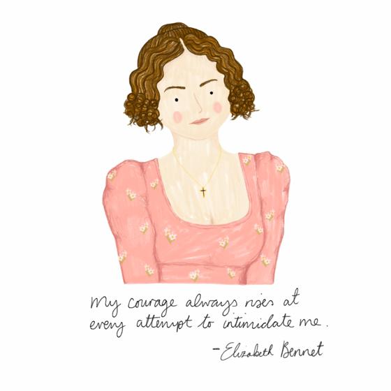 Image of Pride & Prejudice Elizabeth Bennet Mini Print