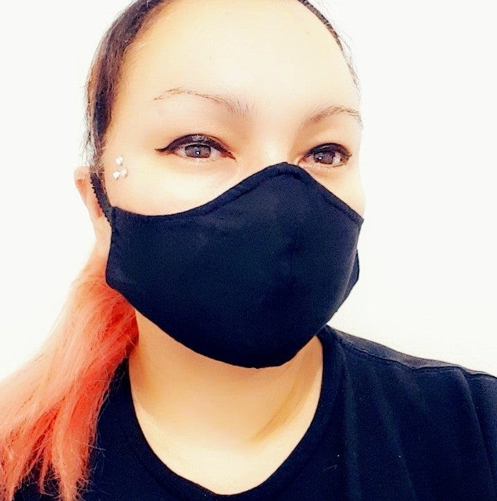 Image of Solid Black Non-Medical Mask