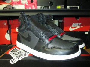 "Image of Air Jordan I (1) Retro ""Black Satin/Gym Red"""