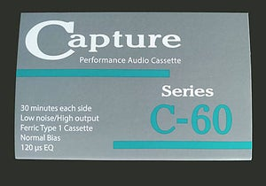 "Image of Capture CAP-C60-10 C-60 Audio Cassette 1/8"" Tape 10 Pack"