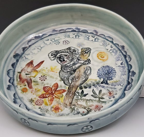 Image of Small Porcelain Koala Handpainted Dish