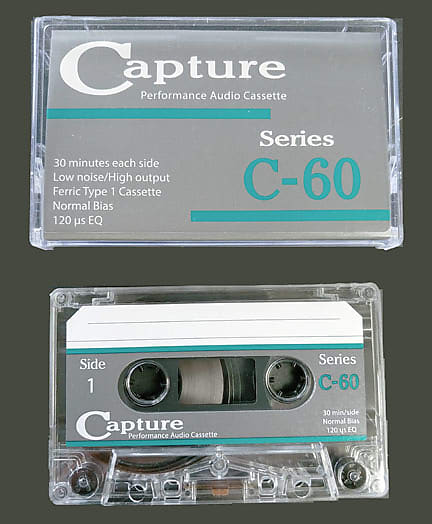 "Image of Capture CAP-C60-10 C-60 Audio Cassette 1/8"" Tape Single"