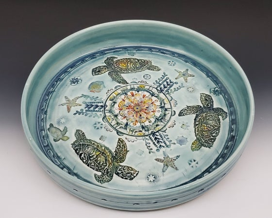 Image of Sea Turtle Porcelain Rimmed Platter