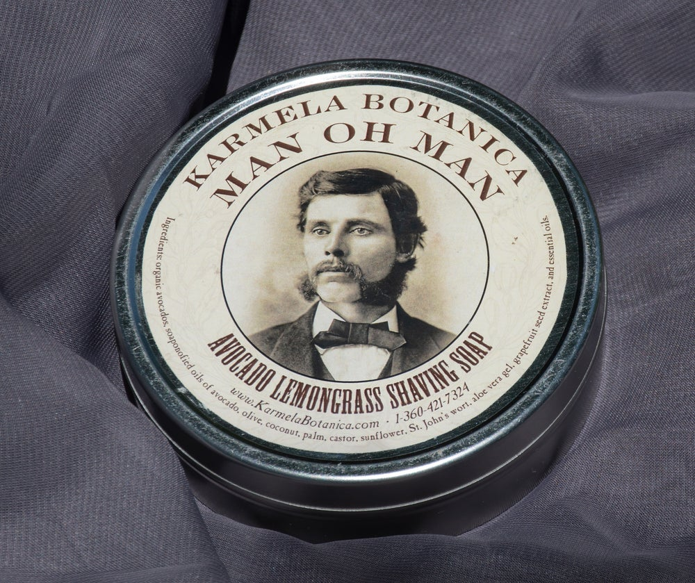 Image of Man Oh Man Avocado Lemongrass Shaving Soap