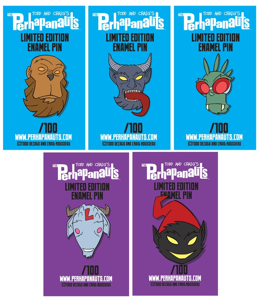 Image of PERHAPANAUTS limited edition enamel pins