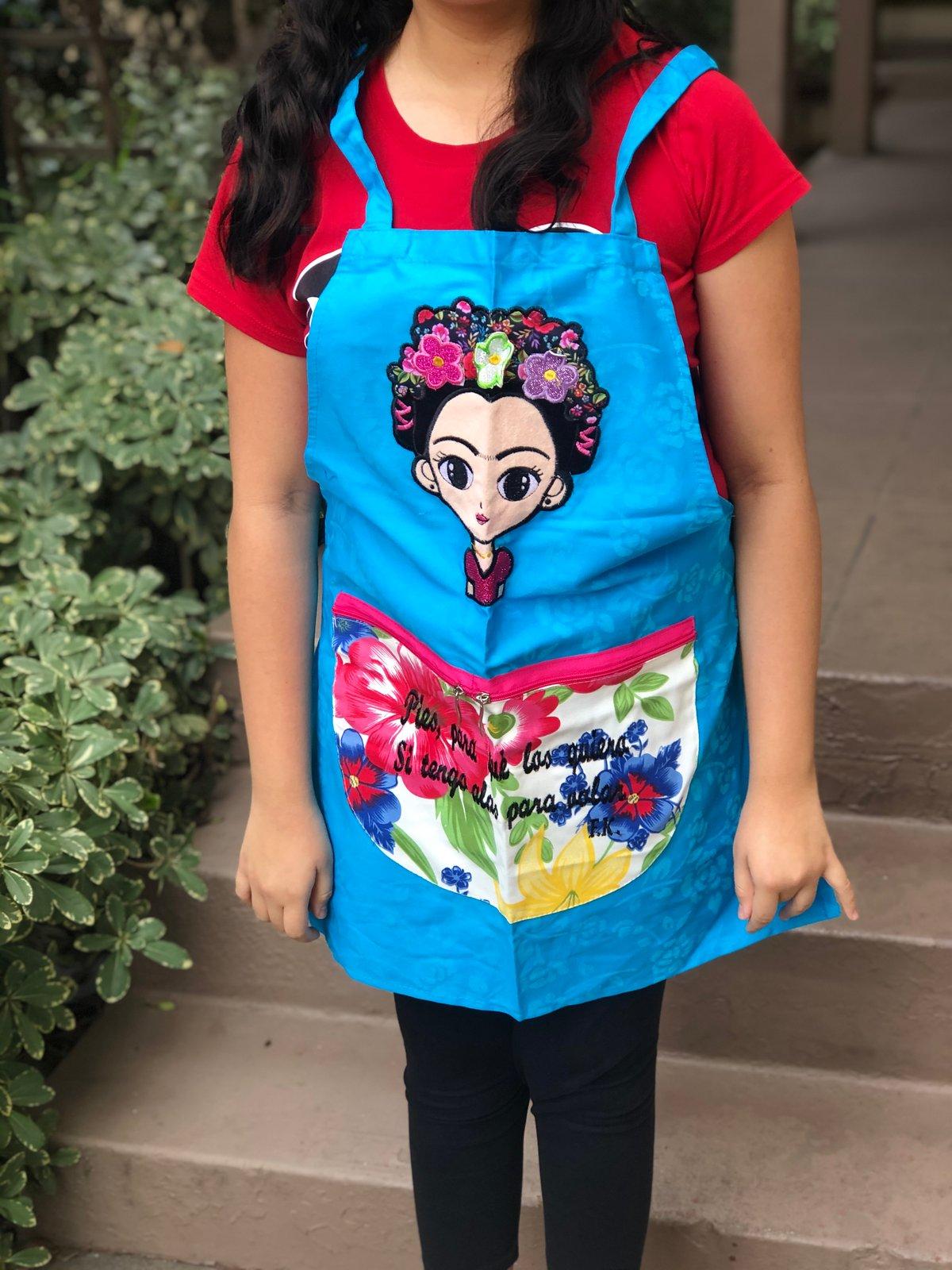 Image of Blue Frida Apron