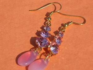 Image of Pink Crystal Earrings