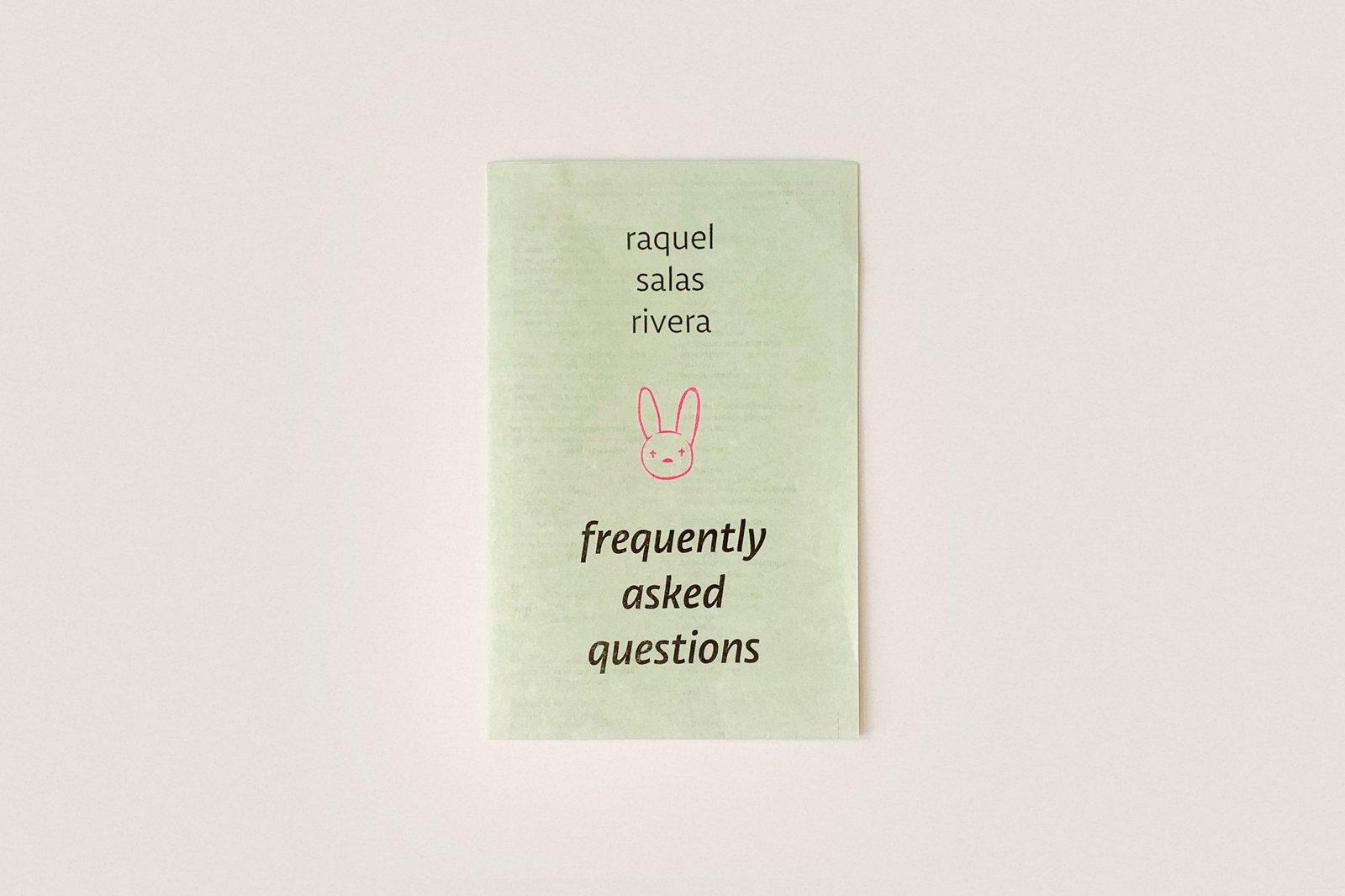 Libro: preguntas frecuentes — Raquel Salas Rivera
