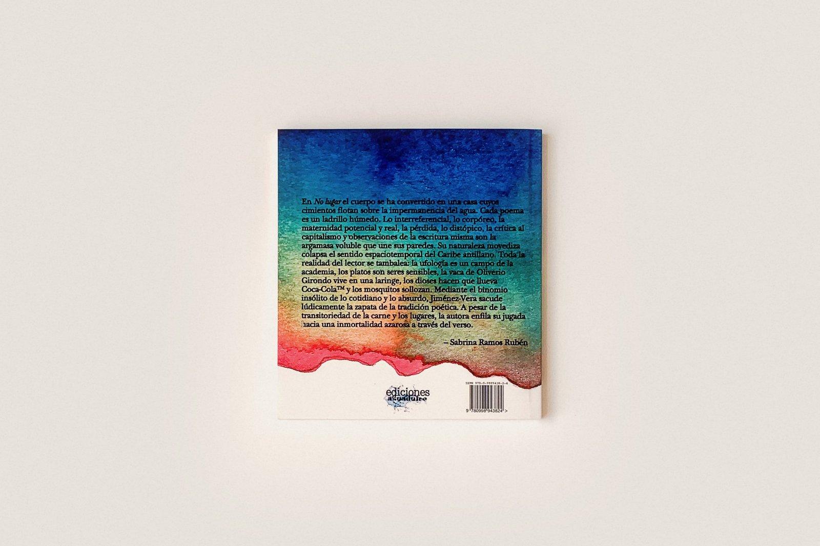Libro: No lugar — Cindy Jiménez-Vera
