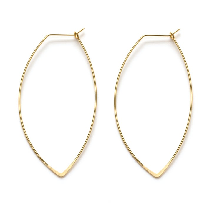 Image of Amano Gold Marquise Hoop Earrings