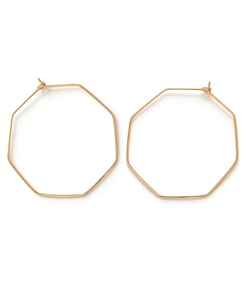Image of Amano Gold Octagon Earrings