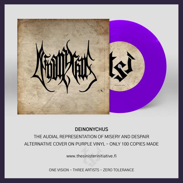 "Image of Deinonychus ""The Audial Representation of Misery and Despair"" 7"" (ALT)"