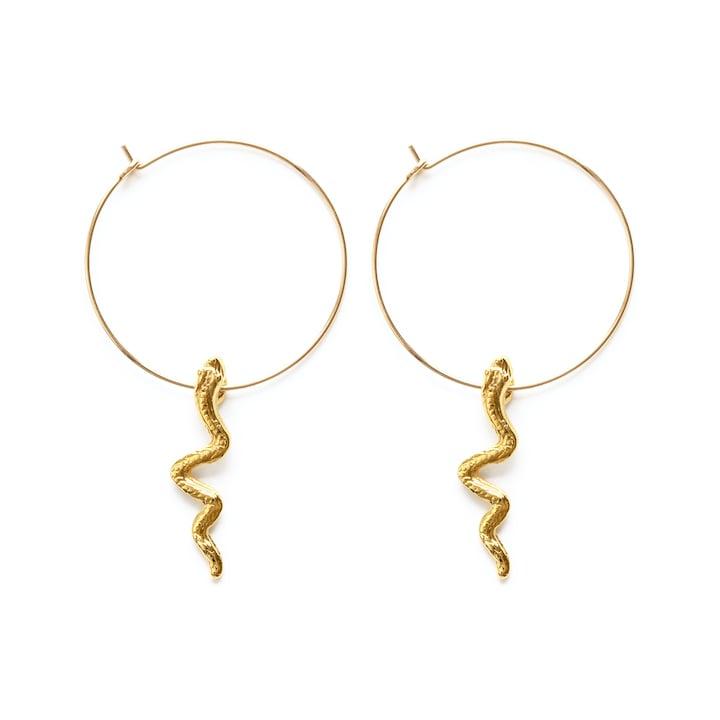 Image of Amano Serpent Hoop Earrings