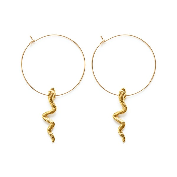 Image of Amano Serpent Hoop Earrings