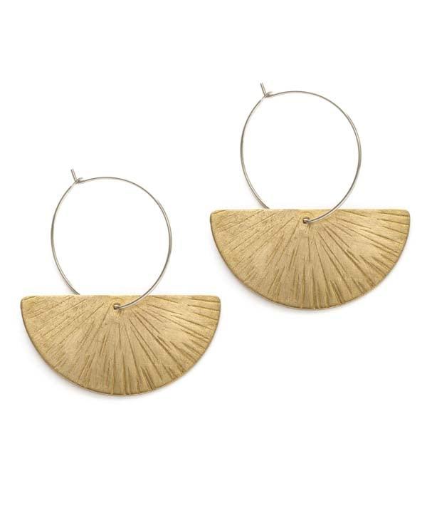Image of Amano Ray Of Light Hoop Earrings