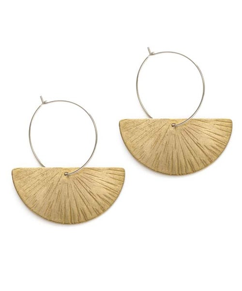 Image of Amano Ray Of Light Hoop Earrings