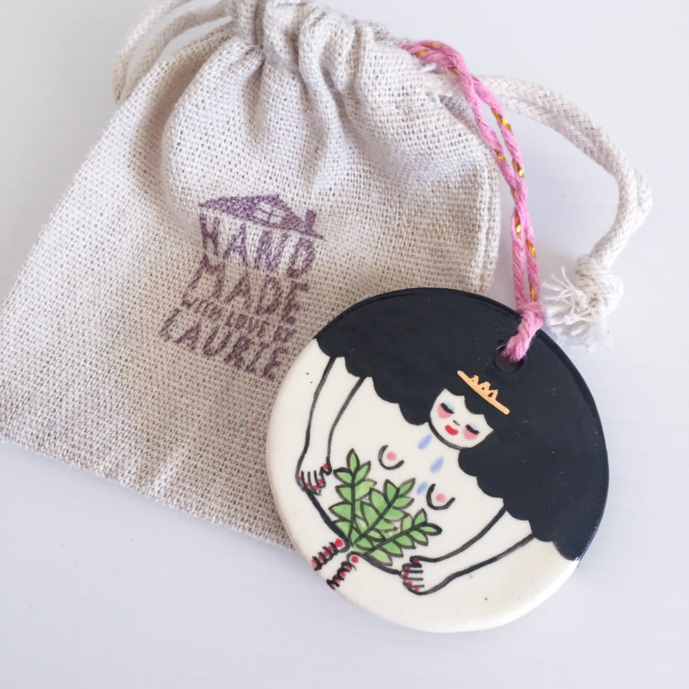Image of Plant Lady Roundie - Hanging Ornament