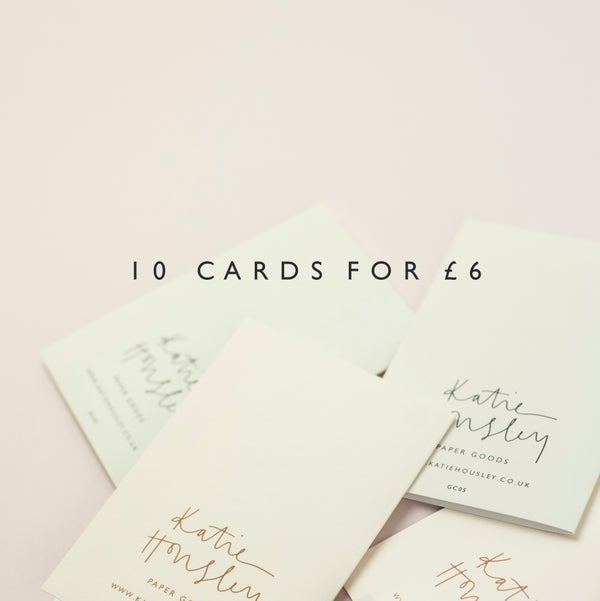 Image of Pack of 10 Cards
