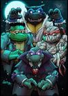 Tmnt universal monsters art print
