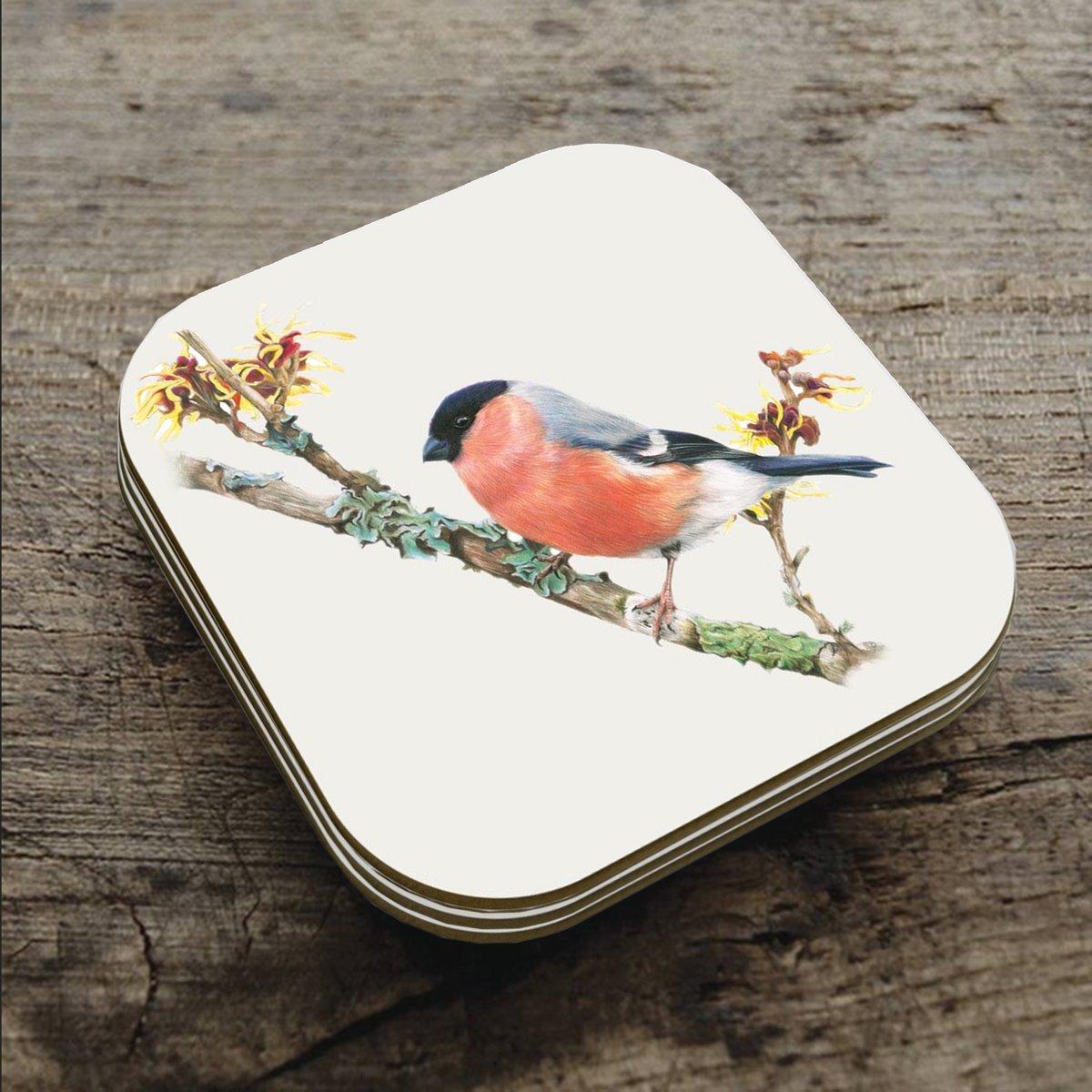 Image of 'Bullfinch' Coaster