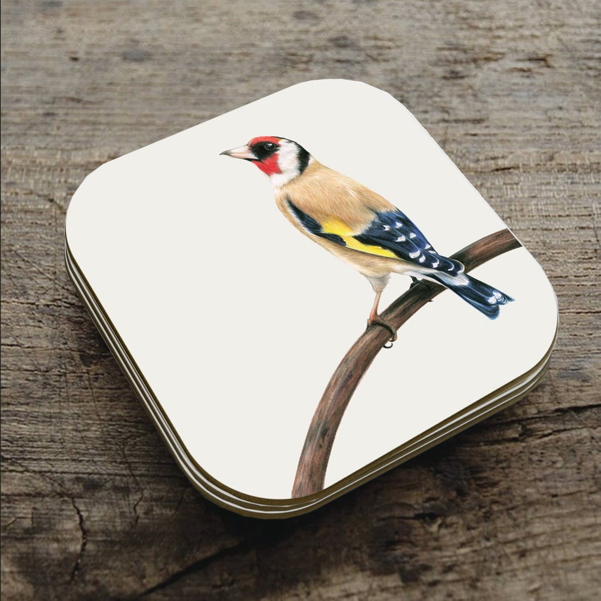 Image of 'Goldfinch' Coaster