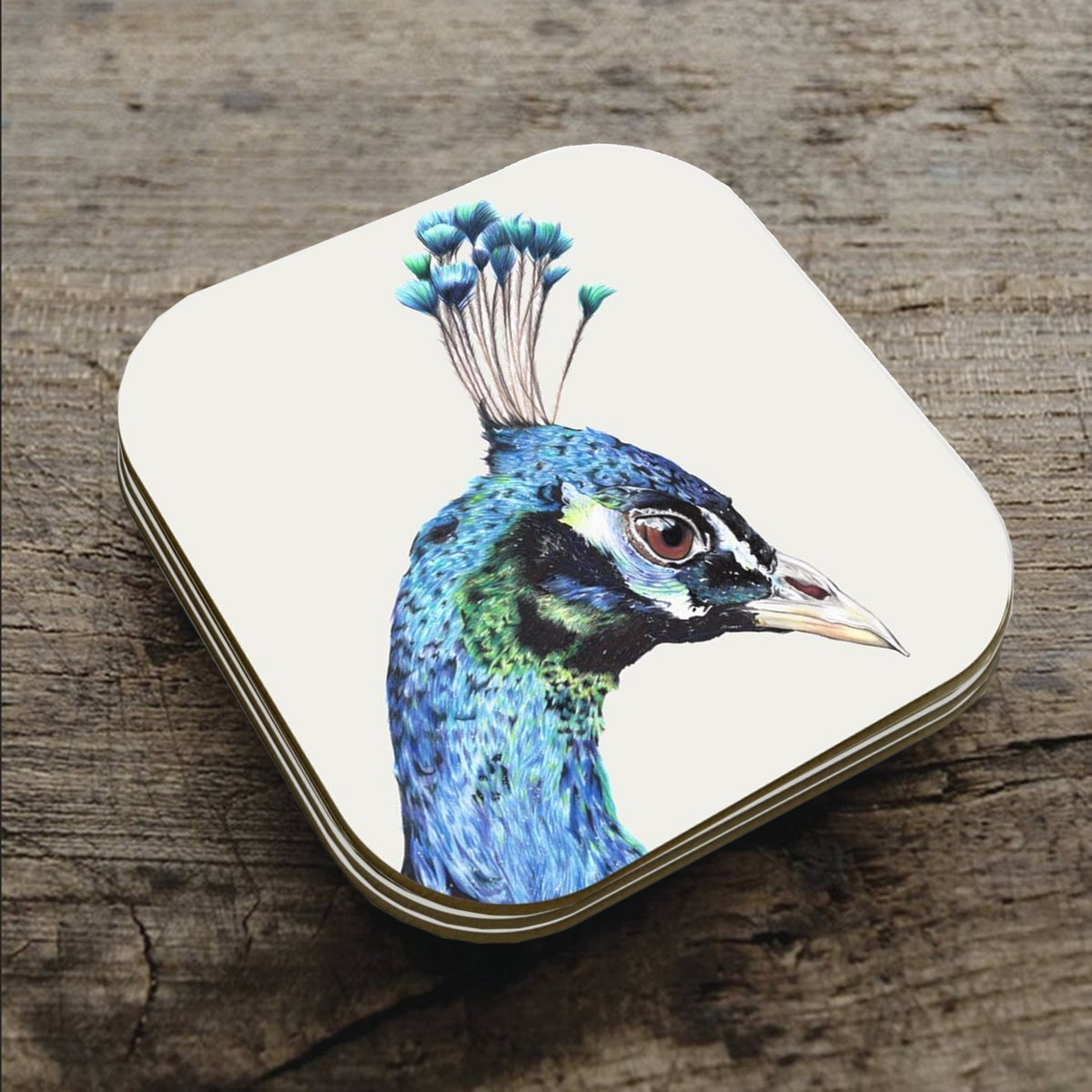 Image of 'Peacock' Coaster