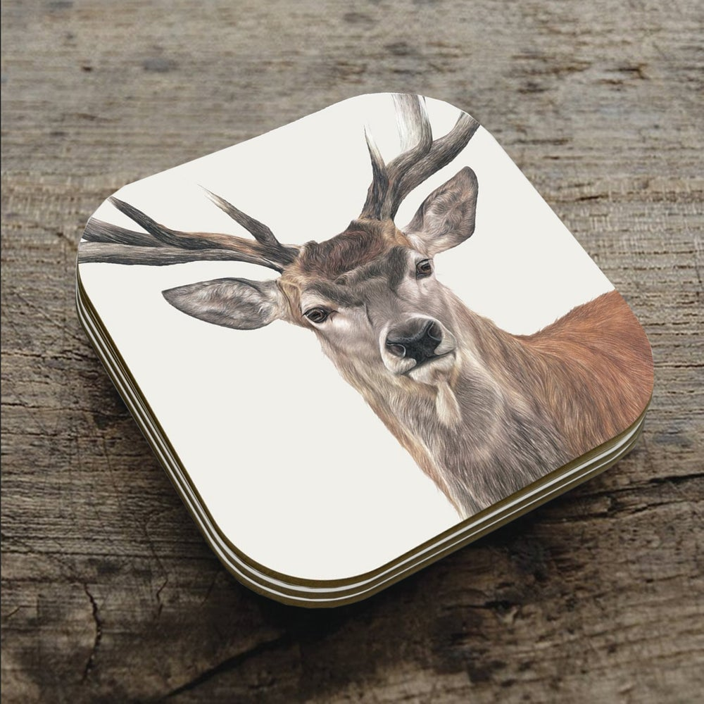 Image of 'Red Deer' Coaster