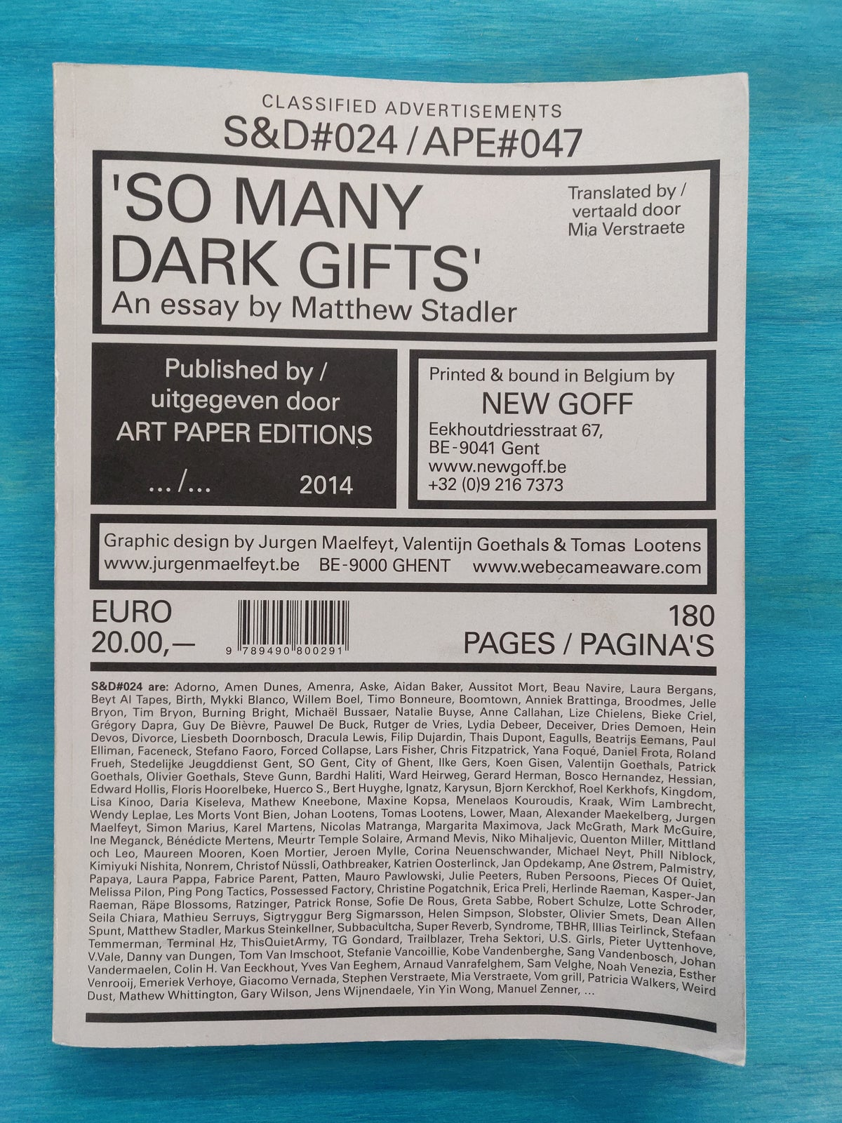 So Many Dark Gifts (S&D#024 / APE#047)