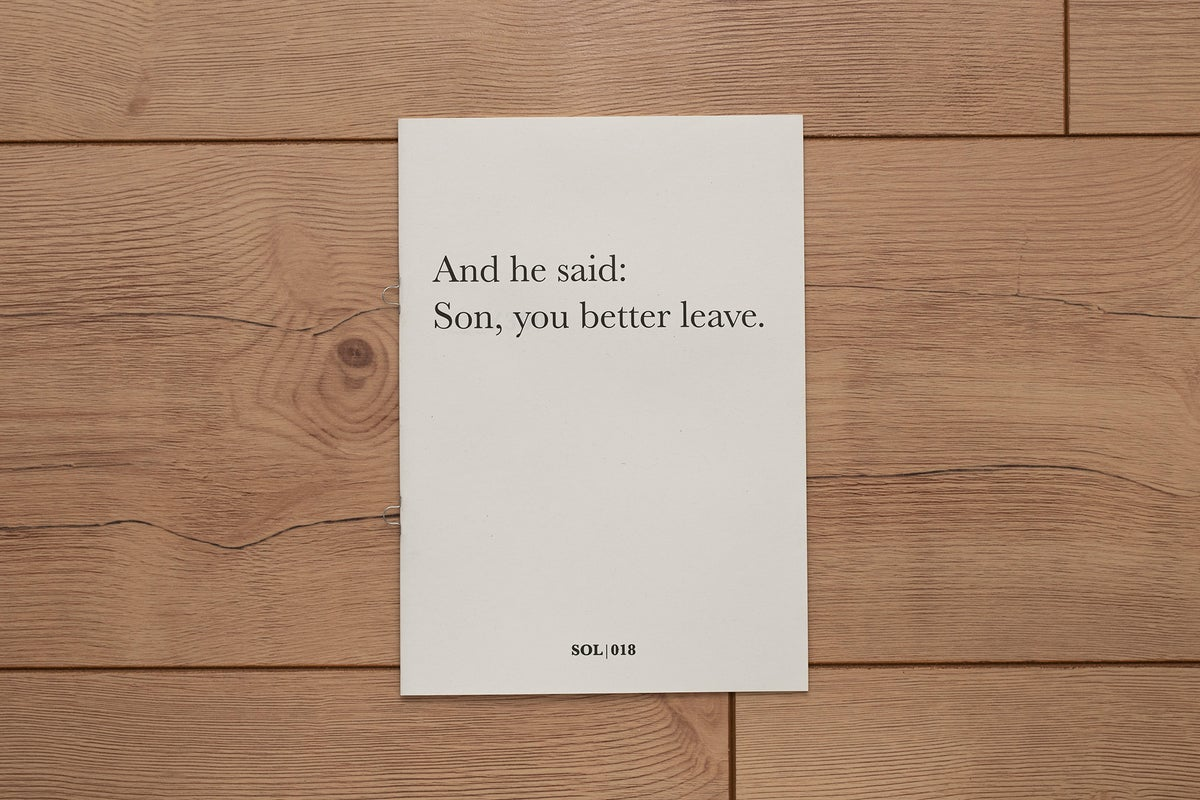 Image of And he said: Son, you better leave. (The Beirut Zine #1)