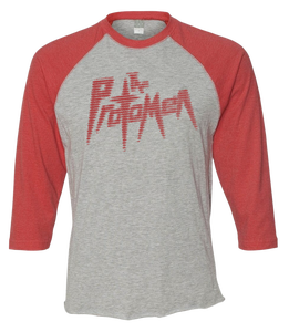 Image of Raglan Baseball Tee - Red - Act I Logo