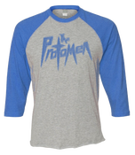 Image of Raglan Baseball Tee - Blue - Act I Logo