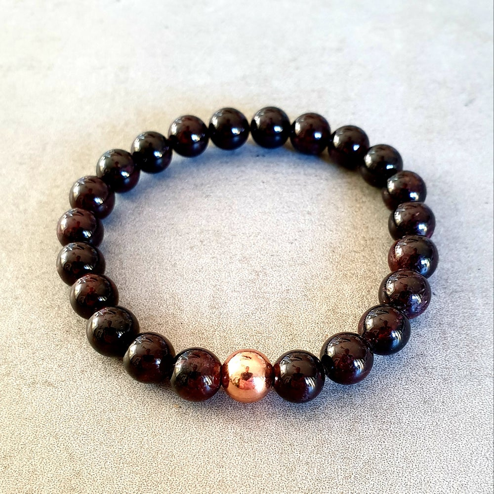 Image of GARNET & COPPER BRACELET - 6mm, 8mm & 10mm bead sizes