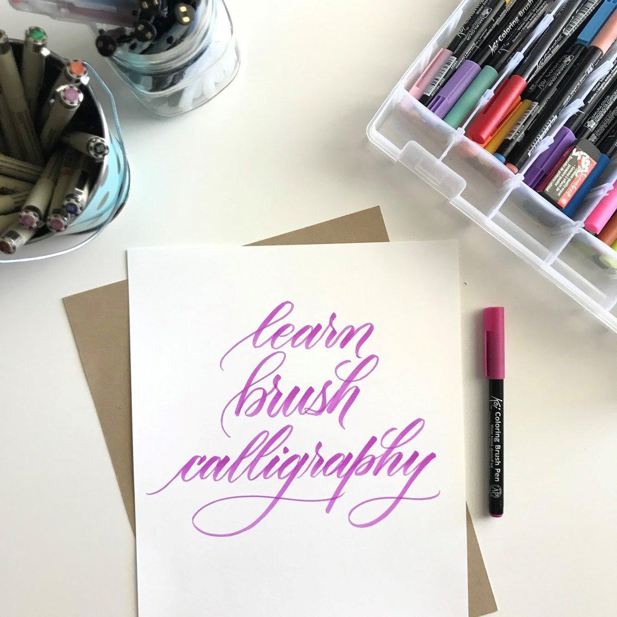 Image of Online Brush Calligraphy Workshop (Mini)