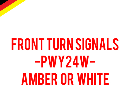 Image of PWY24W Front Turn Signals Error Free - Available in White or Amber Fits 2020 ATLAS Volkswagen