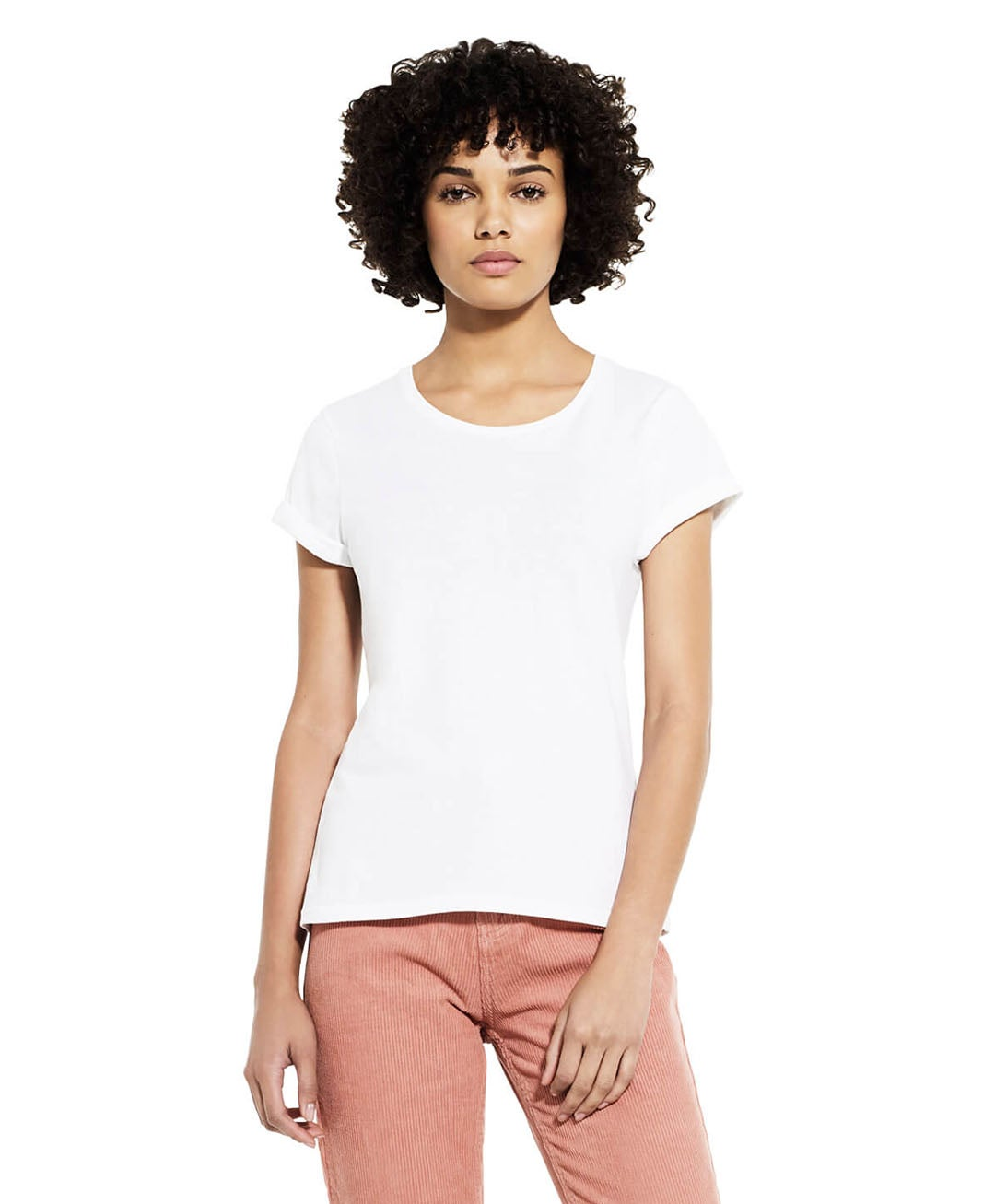 Image of OM ASATOMA SAD GAMAYA – wrapped – mustard yellow/rose – white t-shirt w/ rolled-up sleeves