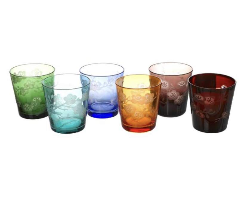 Image of Blossom Tumbler Glasses - set of 6