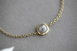 Image of 18ct gold rose-cut diamond bracelet