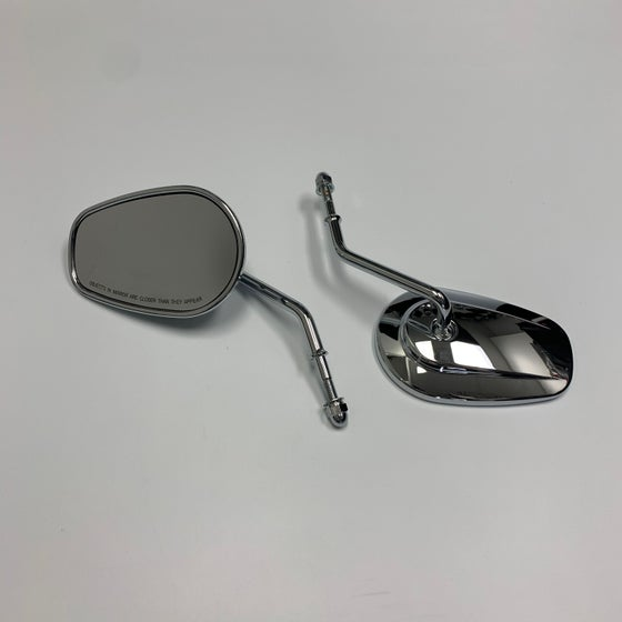 Image of HD Style Mirrors (Black or Chrome) fits HD XL/Sportster, Dyna & Softail