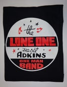 Image of T-Shirt.  Hasil Adkins : The Lone One.   M. L. XL. XXL.