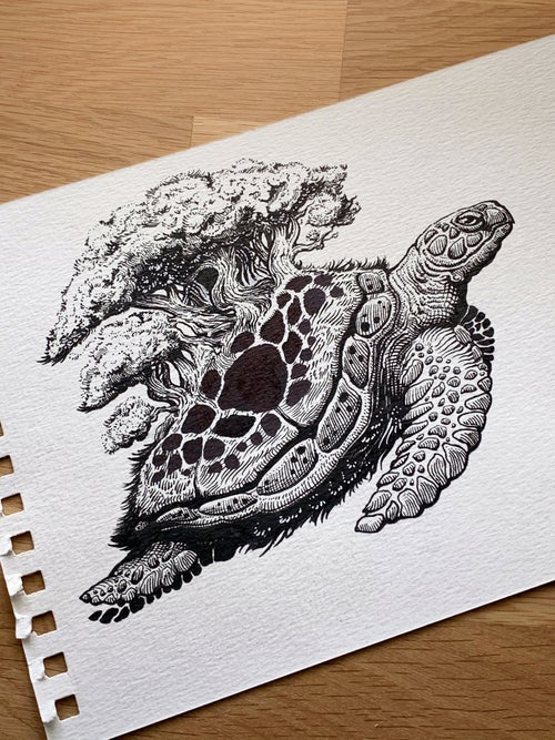 Image of Turtles All The Way Down - Original Art