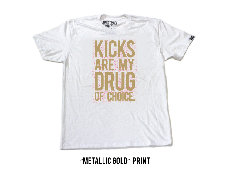 """KICKS  """"CEMENT- RED/ GREY OR WHITE/GOLD SERIES"""" TSHIRT"""