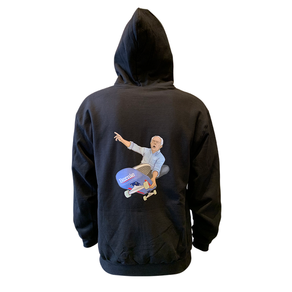 Image of Bernie Shreds Zip Hoodie - Black