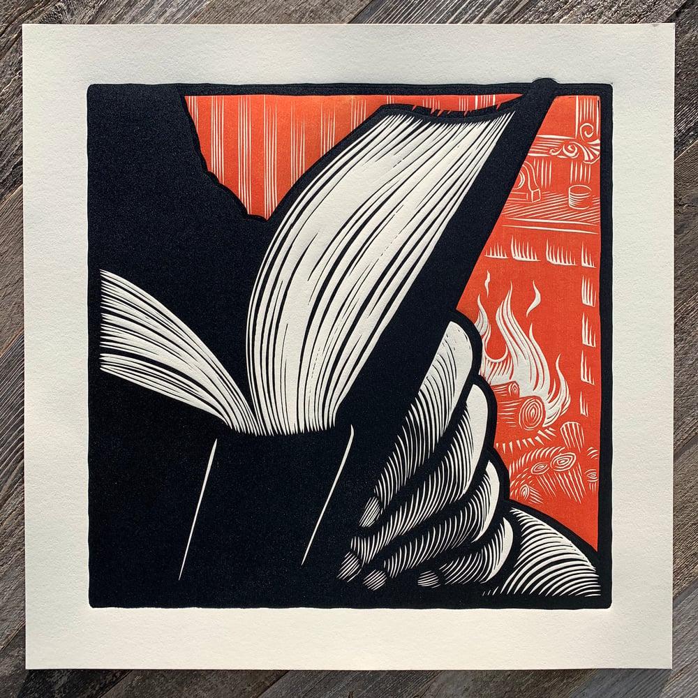 READ - large woodcut