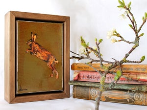 "Image of Original Framed Canvas - 4"" x 6"" - Hare#1"
