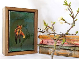 "Image of Original Framed Canvas - 4"" x 6"" - Fox#2"