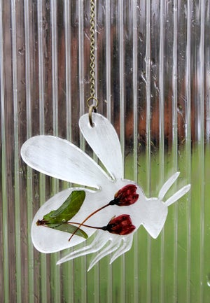 Image of Pressed Flower Bee #2